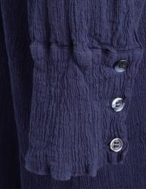 Abito Crêperie lungo abbottonato blu abiti donna prezzo