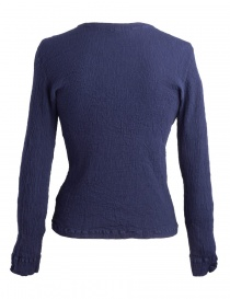 Crêperie dark blue sweater with wrinkles effect