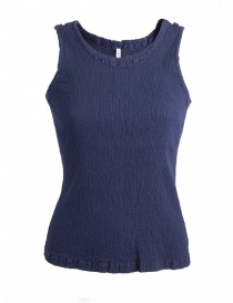 Women s tops online: Crêperie blue top in crêpe fabric