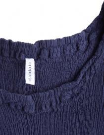 Crêperie blue top in crêpe fabric price