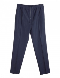 Mens trousers online: Golden Goose Deluxe Brand long navy trousers
