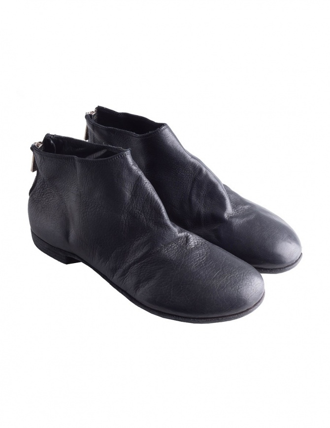 Guidi black leather ankle shoes with zip ZO04S ZO04S CALF FG BLKT mens shoes online shopping