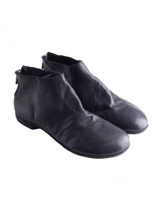 Scarpe in pelle nera con zip Guidi ZO04S ZO04S CALF FG BLKT calzature uomo online shopping