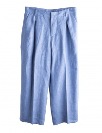 Womens trousers online: Cellar Door pale blue palazzo trousers