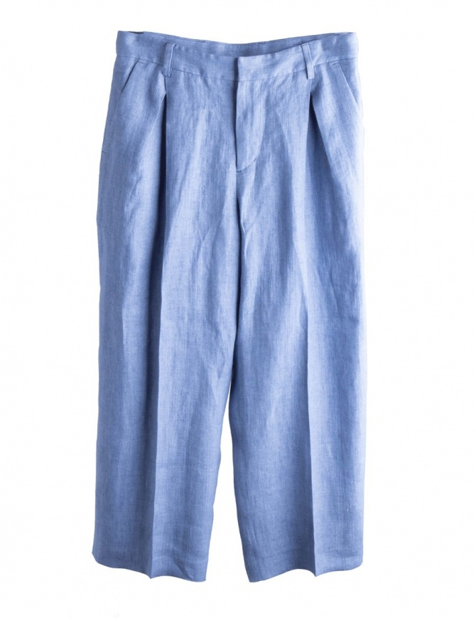 Cellar Door pale blue palazzo trousers BIANCA A209 COL. 53 womens trousers online shopping