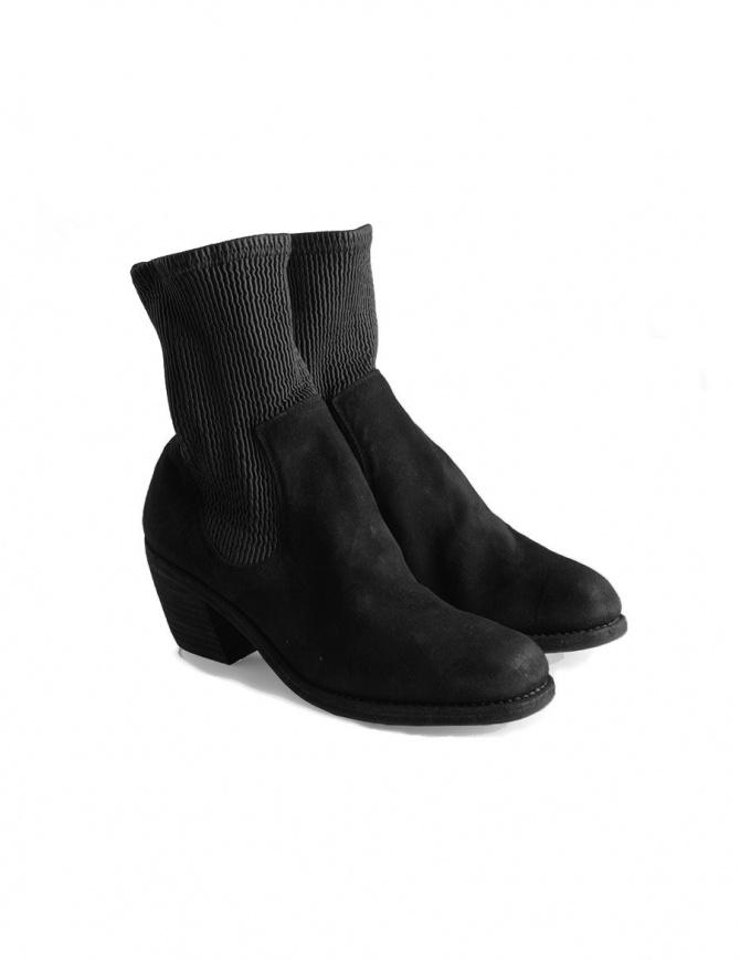 Stivaletto Guidi SB96D in pelle di canguro rovesciata SB96D KANGAROO REVERSE BLKT calzature donna online shopping