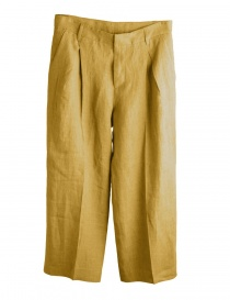 Womens trousers online: Cellar Door mustard yellow palazzo pants