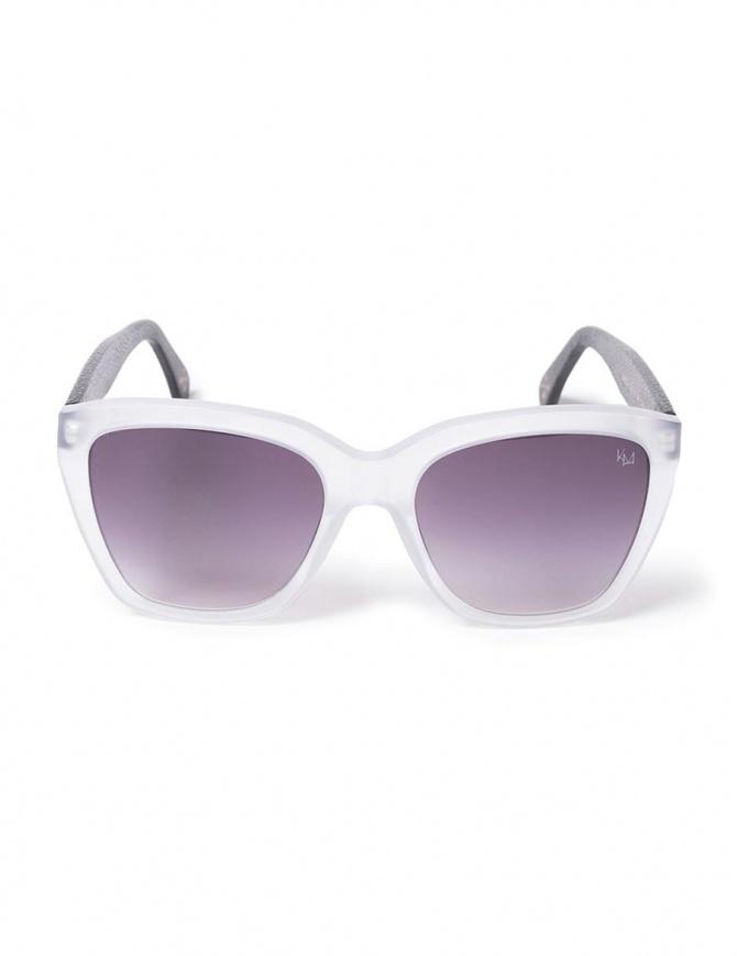 Occhiali da sole Kyro McKay modello Narita in pelle NARITA C2/BK occhiali online shopping