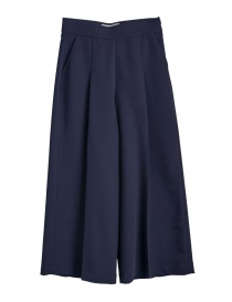 Womens trousers online: Cellar Door blue palazzo pants