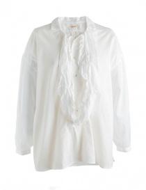 Camicia bianca Kapital con rouche online