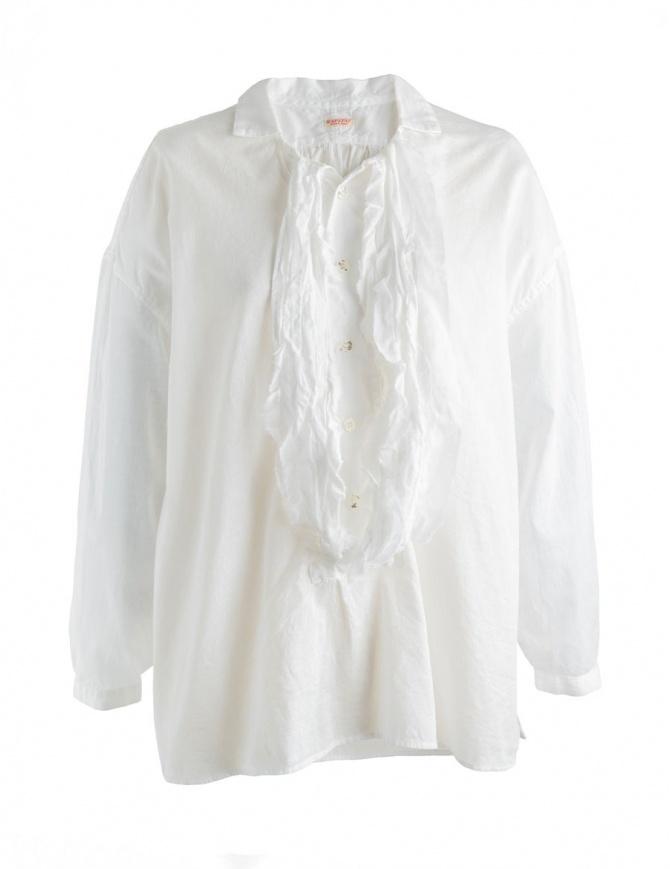 Camicia bianca Kapital con rouche K1710LS177 camicie donna online shopping