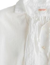 Camicia bianca Kapital con rouches prezzo