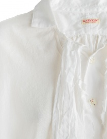 Kapital white shirt with rouches price