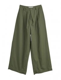Pantaloni donna online: Pantaloni verde militare Cellar Door modello a rondine