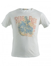 T-Shirt bianca stampa Ride Free Rude Riders R01032 col. 84025 order online