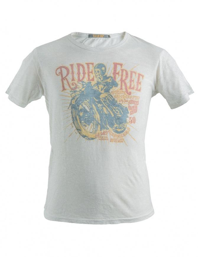 T-Shirt bianca stampa Ride Free Rude Riders R01032 col. 84025 t shirt uomo online shopping