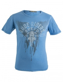 T shirt uomo online: T-shirt blu Rude Riders Speed