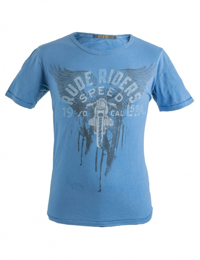 T-shirt blu Rude Riders Speed R01038 col. 74114 t shirt uomo online shopping