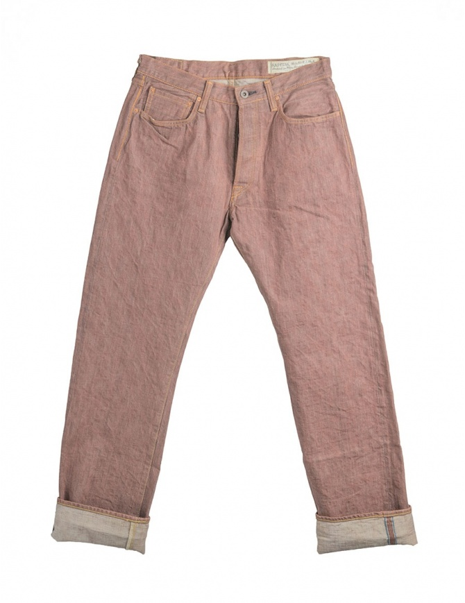 Rust color Kapital jeans NKSSLP024 DENIM BROWN mens jeans online shopping