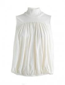 Camicie donna online: Blusa Kapital bianca con collo alto