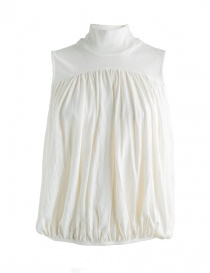 Womens shirts online: Kapital white blouse with high neck