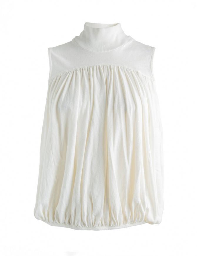 Canotta bianca Kapital con collo alto K1704SC178 canotte donna online shopping