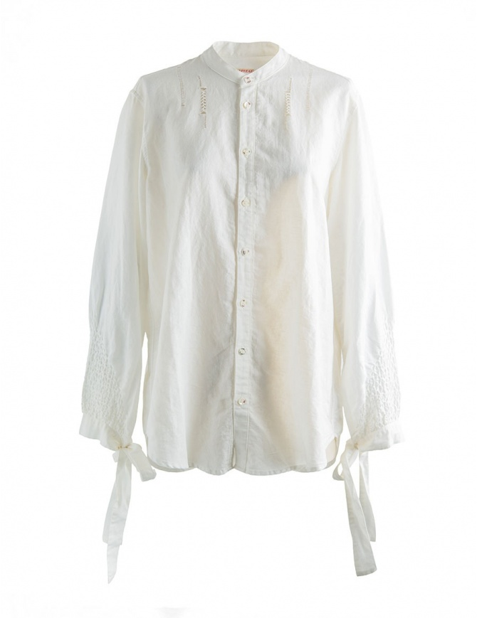 Camicia bianca Kapital con nastri K1708LS029 WHITE SHIRT camicie donna online shopping