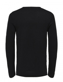 Selected Homme navy seersucker sweater