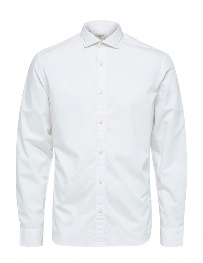 Camicia bianca Selected Homme 16063596 SLHSLIMSALFORD SHIRT camicie uomo online shopping