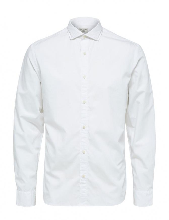 Selected Homme white shirt 16063596 WHITE SLHSLIMSALFORD mens shirts online shopping