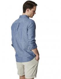 Selected Homme denim effect light blue shirt