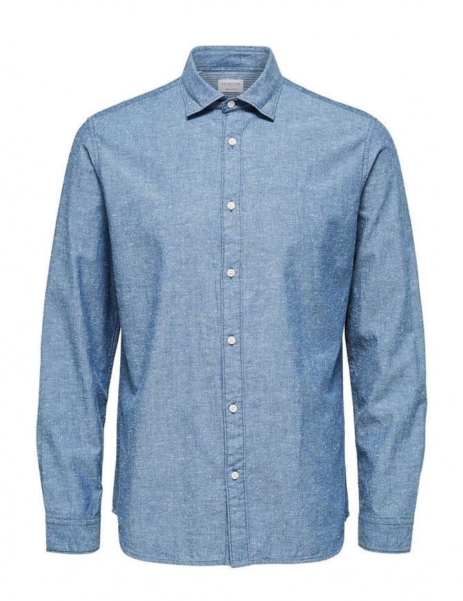 Camicia azzurro spento Selected Homme 16062783 SLHREGGUNNAR SHIRT camicie uomo online shopping