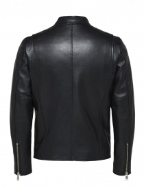 Giacca nera in pelle Selected Homme acquista online