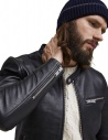 Giacca nera in pelle Selected Homme  prezzo 16064161 SLHTEXAS LEATHERJACKETshop online