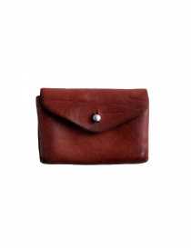 Wallets online: Guidi EN01 red horse leather coin purse