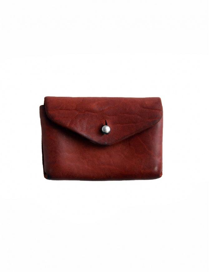 Portamonete Guidi EN01 in pelle di cavallo rossa EN01 HORSE-FG POCK 1006T portafogli online shopping