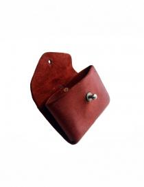 Portamonete Guidi EN01 in pelle di cavallo rossa portafogli acquista online