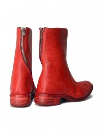 Red leather boots with spiral zip price