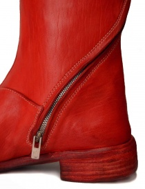 Red leather boots with spiral zip mens shoes buy online