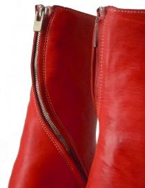 Stivale in pelle rossa con cerniera a spirale calzature uomo prezzo