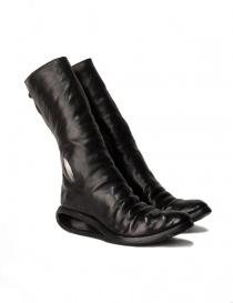 Stivali in pelle nera con inserto in metallo AF/0907P CORS-PTC/010