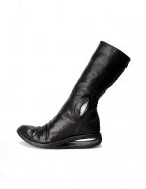 Stivali in pelle nera con inserto in metallo acquista online