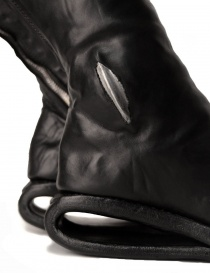 Black leather boots with metal insert womens shoes buy online