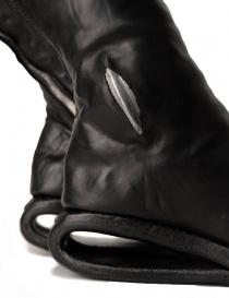 Stivali in pelle nera con inserto in metallo calzature donna acquista online