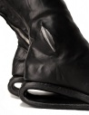 Black leather boots with metal insert AF/0907P CORS-PTC/010 buy online