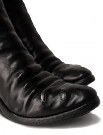 Black leather boots with metal insert womens shoes price