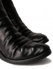 Stivali in pelle nera con inserto in metallo calzature donna prezzo