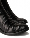 Black leather boots with metal insert price AF/0907P CORS-PTC/010 shop online