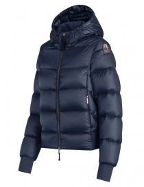 Parajumpers Mariah blue navy quilted jacket with hood