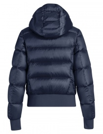 Parajumpers Mariah blue navy quilted jacket with hood price